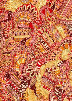Zentangle in colors