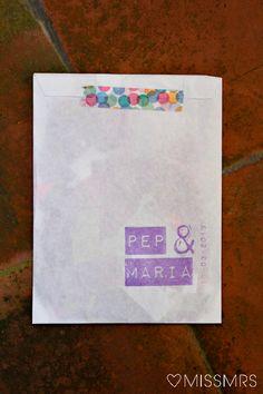 MissMrs, mucho más que una boda: La boda de María + Pep: Las invitaciones y el confetti (hecho por la novia)