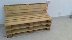 Panchine create con i pallet