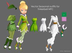 Fashion Illustrations done in Vector for Disney Fairies Pixie Hollow Tinkerbell And Friends, Tinkerbell Disney, Tinkerbell Dress, Disney Princess, Tinkerbell Wallpaper, Fairy Wallpaper, Disney Faries, Pixie Hollow, Friends Season