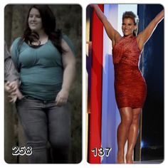 """Danni Allen. The winner of biggest loser, season 14. Incrediable. 258 down to 137. Lost 121 lbs. She is 5'6"""". Such an inspiration!"""