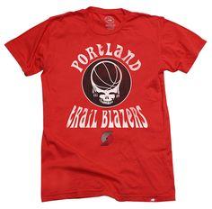 Portland Trail Blazers Grateful Dead Shirt by Sportiqe