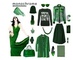 """""""Going Green"""" by taci42 ❤ liked on Polyvore featuring Balmain, WearAll, Jil Sander, Z Spoke by Zac Posen, Casetify, Valentino, Isabel Marant, Furla, Bling Jewelry and Adolfo Courrier"""