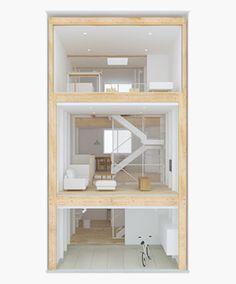 縦の家─空間を縦に広く。スキップフロアで暮らしましょう。 無印良品の家