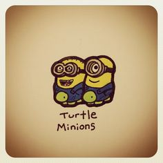 Turtle Minions #turtleadayjuly - @turtlewayne- #webstagram