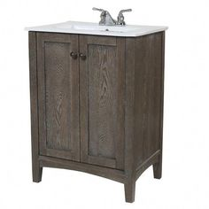 Add rustic charm to your bathroom décor with the Elegant Decor Single Bathroom Vanity Set . This two-door vanity set features hand-painted. 24 Inch Bathroom Vanity, Office Bathroom, Vanity Set With Mirror, Single Bathroom Vanity, Vanity Sink, Small Bathroom, Bathroom Vanities, Bathrooms, Bathroom Ideas