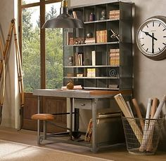 51 Cool Storage Idea For A Home Office | Shelterness Could see this being some sort of nook in my classroom. I may not teach reading, but that doesn't mean I can't have bookshelves and encourage it :)
