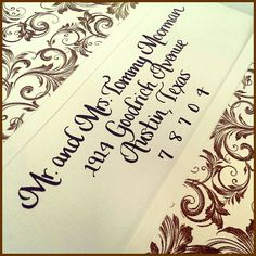 Simple chancery italic font #calligraphy #weddingcalligraphy  #envelopecalligraphy  #nationwidecalligrapher #CalligraphybyJennifer