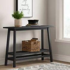 Haverhill Wood Console Table With Shelf - Threshold™ : Target Entryway Light Fixtures, Entryway Console Table, Table Shelves, Shelf, Target, Black Entry Table, Foyer Ideas, Decor Ideas, House Ideas