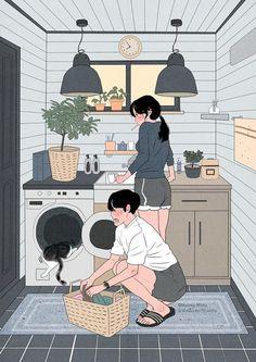 23 Ideas for illustration art love couple kawaii Art Love Couple, Cute Couple Drawings, Anime Love Couple, Couple Cartoon, Cute Anime Couples, Cute Drawings, Love Art, Hipster Drawings, Horse Drawings