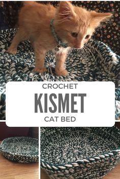 Ravelry: Kismet Cat Bed pattern by Alicia SImon Finger Crochet, Easy Crochet, Free Crochet, Crochet Gifts, Crochet Pet, Beginner Crochet, Crochet Flower, Crochet Basics, Animal Projects