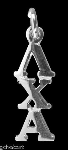 925 Sterling Silver Rhodium-plated Sororities Kappa Alpha Theta Small Charm Pendant