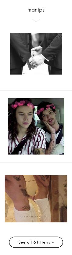 """""""manips"""" by s-adkids ❤ liked on Polyvore featuring one direction, larry, harry, larry stylinson, 1d, pictures, instagram, harry styles, louis tomlinson and home"""