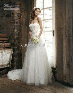novo estilo vestidos império wedding organza applique noiva do casamento vestidos capela