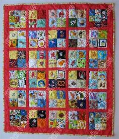 I Spy Quilt Child's Alphabet Themed Look Quilt (ispy quilt) Matching Game Quiet… Boy Quilts, Shirt Quilts, Pattern Blocks, Quilt Patterns, I Spy Quilt, Quilting Designs, Quilting Ideas, Quilt Border, Quilt Sizes