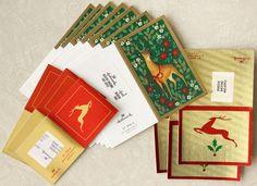 Lot Unused Hallmark ALL REINDEER Gift Tag Enclosure Card Xmas Holiday Fold Vtg #hallmark #Christmas