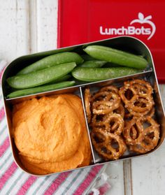 Red Bell Pepper Hummus from Weelicious.com