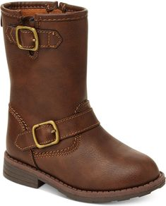 Girls Toddler CARTER/'S AQION2 Brown Buckle Zip Up Casual Fashion Dress Boots NEW