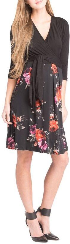 LILAC MATERNITY Print Surplice Dress