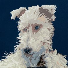 Wire Fox Terrier Pet Portrait Painting - By Slade Roberts #foxterrier #terrier #wiredhairfoxterrier #petportraits #dogs #pets #animals #paintings #petart #art #modernart #decor #petpaintings #popart #sladeroberts #sladerobertsstudio