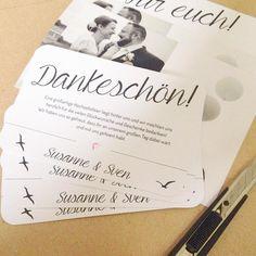 Bastelarbeiten am Sonntag! Dankeskarten in the making! #wedding #hochzeit #instabraut #bride2016 #papeterie #diy #dankeskarten