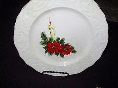 2 ADAM ANTIQUE CANONSBURG POTTERY CO. CHRISTMAS PLATES  | eBay