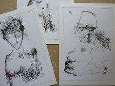 Monoprints with stitch