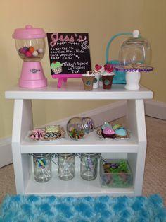 Bakery starter set for your American Girl doll or 18 inch doll. $80.00, via Etsy.