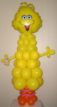 Balloons Gift Basket Expressions ~ Big Bird Balloon Character