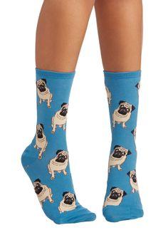 As Snug as a Pug Socks | Mod Retro Vintage Socks | ModCloth.com