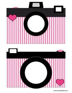 Cameras from Paris Pink Printable Photo Booth Prop Set Diy Party Photo Booth, Photo Props, Diy Fotokabine, Party Fotos, Parisian Party, Paris Birthday Parties, Spa Birthday, Photobooth Props Printable, Printable Designs