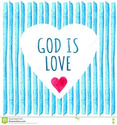 White Heart Shape On Blue Stripe Painted In Watercolor. Greeting Cards Temlate With Text. God Is Love. Element Design For Posters, - Download From Over 65 Million High Quality Stock Photos, Images, Vectors. Sign up for FREE today. Image: 81802137
