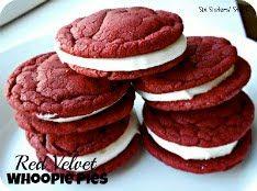 Six Sisters' Stuff: Red Velvet Whoopie Pie Sandwich Cookies