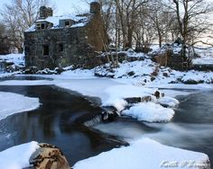 Trawsfynydd, North Wales. The old fulling mill on the river Prysor.