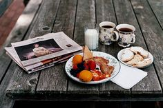 Sunday paper while nibbling on breakfast.