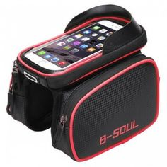 B-SOUL Waterproof Bicycle Front Touch Screen Bag Frame Mountain Bike Top Tube Bag Cycling Phone Bag Bicycle Accessories