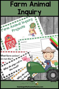 Inquiry Based Learning Projects - Farm Animals With Sample Inquiry Questions Animal Activities For Kids, Science For Kids, Writing Activities, Science Activities, Science Ideas, Writing Ideas, Inquiry Based Learning, Project Based Learning, Primary Teaching