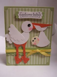 STORK AND BABY PUNCH ART