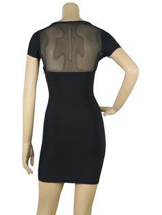 Half See Through Bandage Dress