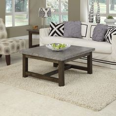 Home Styles Concrete Chic Square Coffee Table | from hayneedle.com