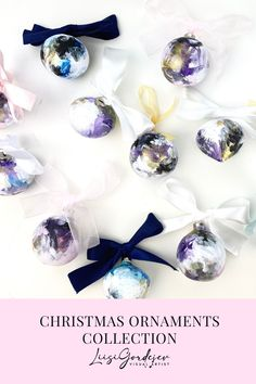 Christmas Ornaments collection Painted Christmas Ornaments, Handmade Market, Craft Sale, Crafts, Author, Manualidades, Handmade Crafts, Arts And Crafts, Craft