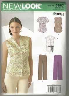 New Look 6967 sewing pattern Misses Pre cut pants top dated 2011 intact