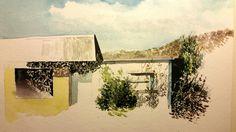 water painting of open door - Google Search