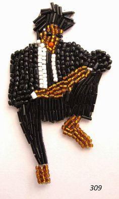 Marianne Batlle Handmade Beaded Pins of Celebrities – Fubiz Media