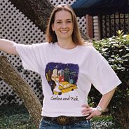 This is the softest tee shirt on the market. The design is ink not an iron-on and will last wash after wash. Sizes from youth (2-4) to XXXL, these shirts make a delightful gift for your wedding party. Order one or order 20, no problem. This Caitlin Cartoon is New York City Couple. We will custom color the hair, skin, gown and accessory colors. To view the entire collection, visit www.FavorsYouKeep.com. Don't see what you want? call the design team directly at 512.323.0600