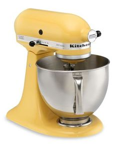 baby yellow kitchenaid mixer... singlehandedly makes me want to perpetuate female gender stereotypes and bake in the kitchen all day
