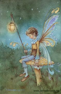 Gorgeous pixie boy by James Browne <3 I imagine he is waiting for his faerie love <3