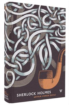 Michael Kirkham's cover art for White's Books release of Sherlock Holmes, a part of a series of clothbound, pattern-based cover illustrations.