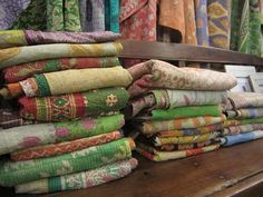 A BEAUTIFUL LITTLE LIFE: Kantha Quilts from Recycled Sari's