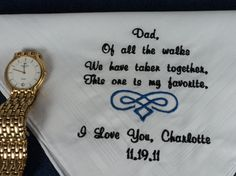 DADS HANKERCHIEF-  SO TOUCHING